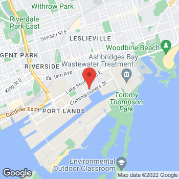 Map of Tim Hortons at 500 Commissioners St, Toronto, ON M4M 1B4