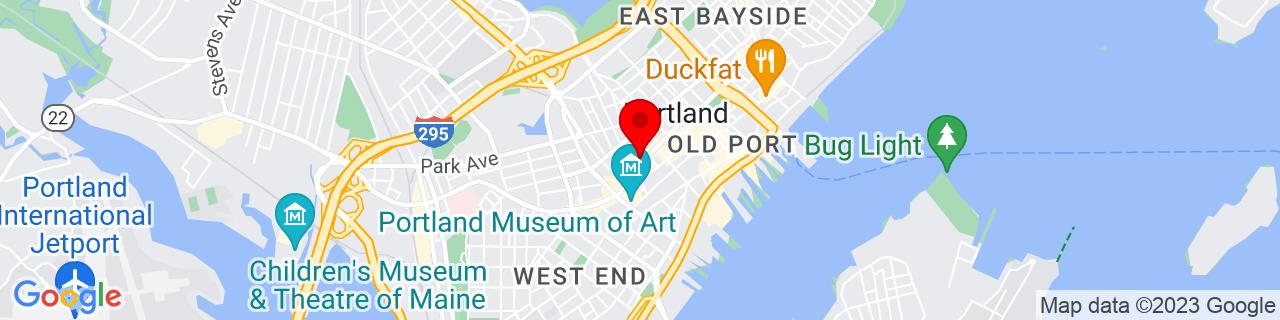 Google Map of 43.6562604, -70.2611665