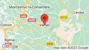 Carte de localisation du centre de contrôle technique VERFEIL