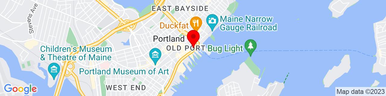 Google Map of 43.6571937, -70.25113879999999