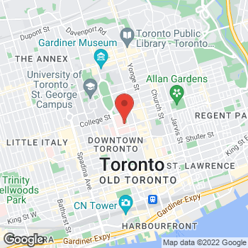 Map of Tim Hortons at 200 Elizabeth St, Toronto, ON M5G 2C4