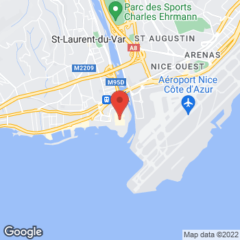 Map of Foot Locker St-laurent-du-var, Nice at 1 - 23 Avenue Eugene Donadei, St-laurent-du-var, Nice,  06700