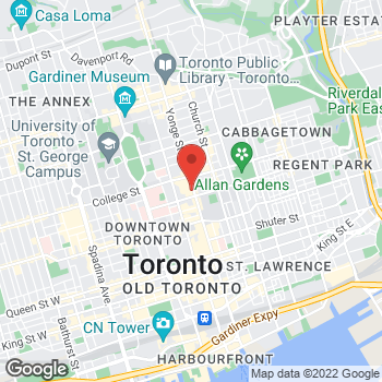 Map of Bed Bath & Beyond at 382 Yonge Street, Toronto, ON M5B1S8
