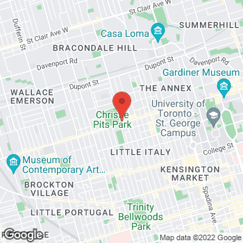 Map of Tim Hortons at 726 Bloor St West, Toronto, ON M6G 4A1