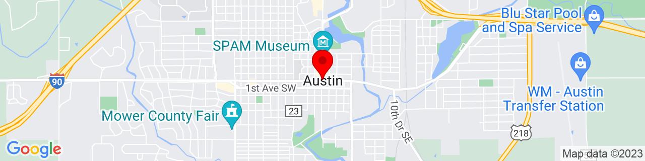 Google Map of 43.666666666666664, -92.97472222222223