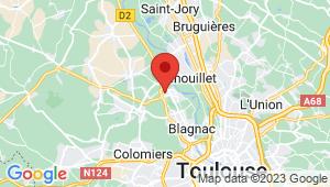 Carte de localisation du centre de contrôle technique BEAUZELLE
