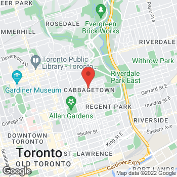 Map of Tim Hortons at 581 Parliament St, Toronto, ON M4X 1P7
