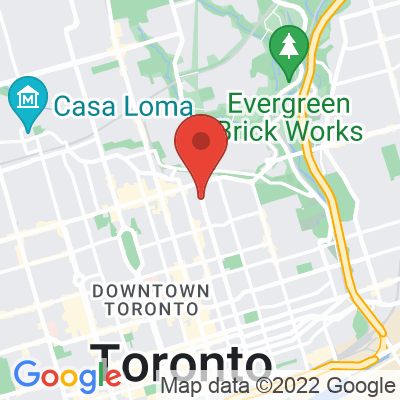Map showing Rooster Coffee House (Jarvis Street)