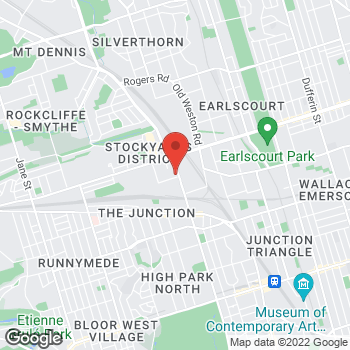 Map of Staples Print & Marketing Services at 542 Keele Street, Toronto, ON M6N 3E2