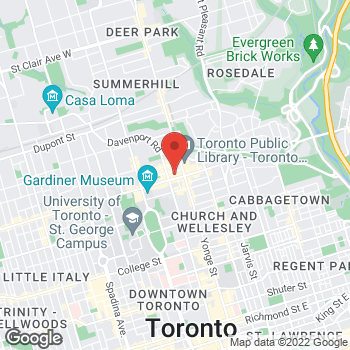 Map of LensCrafters Optique at 50 Bloor St West, Toronto, ON M4W 3L8