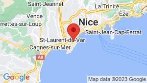 Carte de localisation du centre de contrôle technique NICE