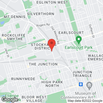 Map of Tim Hortons at 590 Keele Street, Toronto, ON M6N 3E7