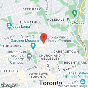 Map of BCBGMAXAZRIA at Hudson's Bay at 44 Bloor St E, Toronto, ON M4W 3H7