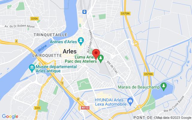 Map of Atelier Luma, Arles, France