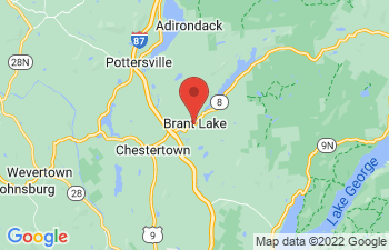 Map of Brant Lake