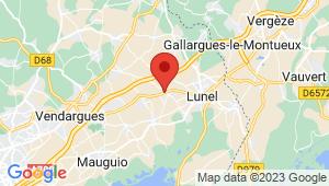 Carte de localisation du centre de contrôle technique LUNEL VIEL