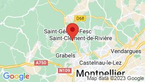 Carte de localisation du centre de contrôle technique SAINT GELY DU FESC
