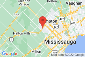 Map of Brampton