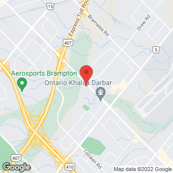 Map of Tim Hortons at 7280 Dixie Rd, Mississauga, ON L5S 1B7