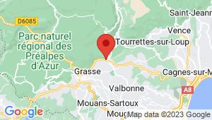 Carte de localisation du centre de contrôle technique CHATEAUNEUF GRASSE