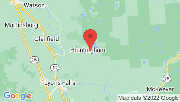 Map of Brantingham Lake