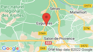 Carte de localisation du centre de contrôle technique EYGUIERES