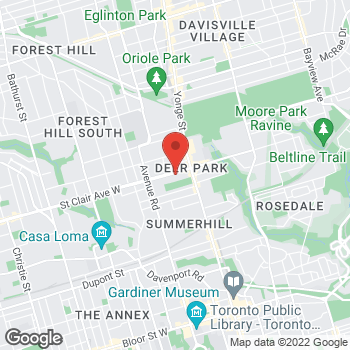 Map of Tim Hortons at 55 St Clair Ave W, Toronto, ON M4V 1N5