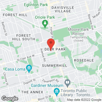 Map of Tim Hortons at 55 St Clair Ave W, Toronto, ON V2L 4S8