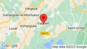 Carte de localisation du centre de contrôle technique VAUVERT