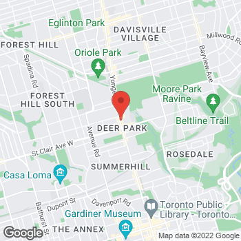Map of Tim Hortons at 1521 Yonge St, Toronto, ON M4T 1Z2