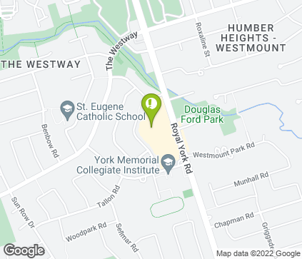 Map of 1500 Royal York Rd in Etobicoke