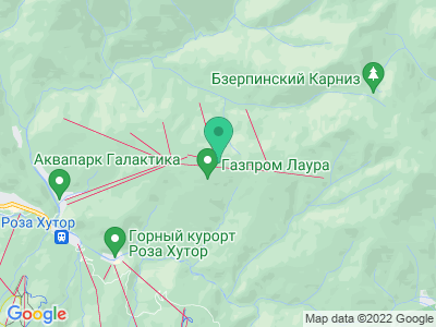 """Карта Горно-туристический центр ПАО """"Газпром"""""""