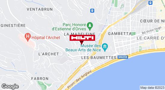 Get directions to Espace Hilti - La Plateforme du Bâtiment - Nice (bd Madeleine)