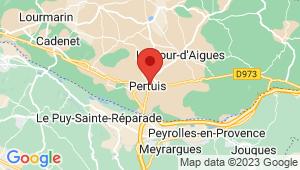 Carte de localisation du centre de contrôle technique PERTUIS
