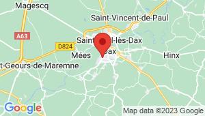 Carte de localisation du centre de contrôle technique DAX