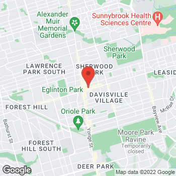 Map of Tim Hortons at 50 Eglinton Ave, Toronto, ON M4P 1A6