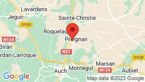 Carte de localisation du centre de contrôle technique PREIGNAN