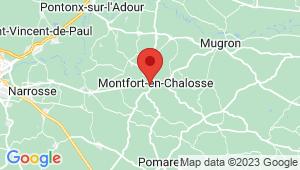 Carte de localisation du centre de contrôle technique MONTFORT EN CHALOSSE