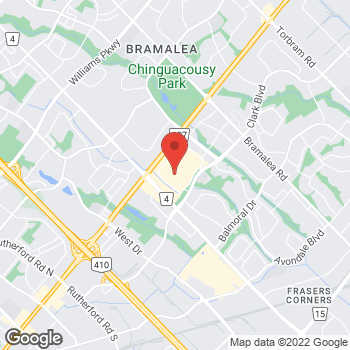 Map of LensCrafters at 25 Peel Centre Drive, Brampton, ON L6T 3R5
