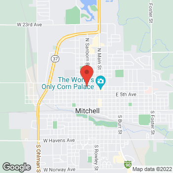 Map of Taco John's at 701 N Sanborn Blvd, Mitchell, SD 57301