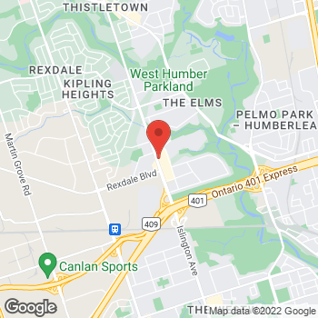 Map of Tim Hortons at 2291 Islington Ave, Etobicoke, ON M9W 3W6