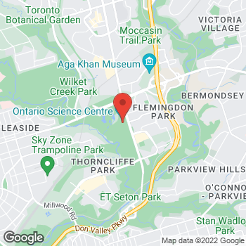 Map of Tim Hortons at 770 Don Mills Road, North York, ON M3C 1T3