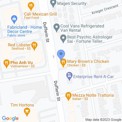 Cash Shop - Dufferin St Map