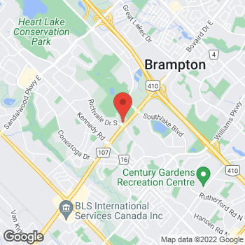 Map of Tim Hortons at 281 Richvale Dr South, Brampton, ON L6Z 4W5