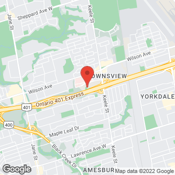 Map of Tim Hortons at 145 Sir William Hearst Ave., North York, ON M3M 0B6