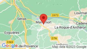 Carte de localisation du centre de contrôle technique MALLEMORT