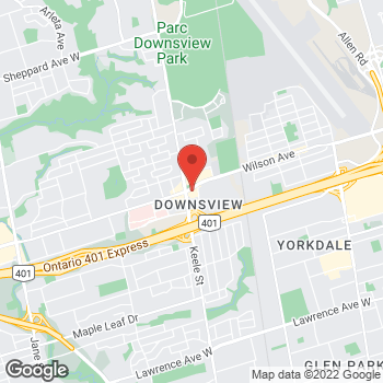 Map of Burger King at 1077 Wilson Ave, North York, ON M3K 1G7