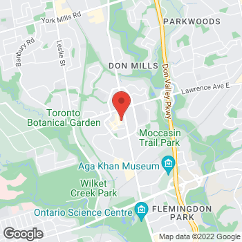 Map of Panera Bread at 1066 Don Mills Road, Toronto, ON M3C 0H8