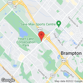 Map of Tim Hortons at 10606 Heartlake Rd, Brampton, ON L6V 2N4