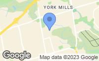 Map of North York, ON